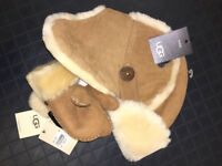 Ugg hat and gloves