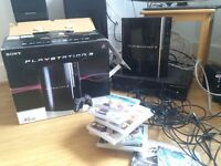 PS3 40gig with 11 games (inc. singstar, COD, SSX)