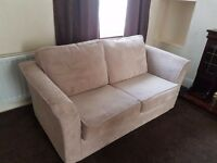 Selling barely used beige sofa bed ...opens into double. No marks at alk. Collection only please