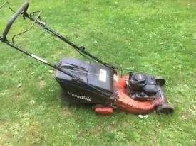 """Petrol self powered roller lawnmower with grassbox - 18"""" blade - serviced 14/08-18"""