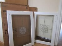 Pair of Chiltern white country style B+Q kitchen cupboard orig £56 each sell £40 pair.new.