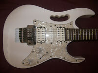 Ibanez JEM555 / JEM 555 WH (White) Electric Guitar + Hard Case.