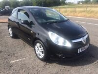 08 VAUXHALL CORSA BREEZE 3 DOOR 1200cc, 2 OWNERS, 62.000 MILES. Black