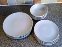 White Plates, Bowls, Side Plates, (crockery, dinnerware)