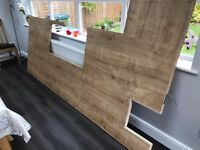 Grained Oak effect block style laminated work top -odina range