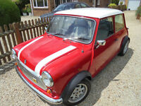 Classic Austin Mini Mayfair 1986, 998cc red with white roof. 12mths MOT