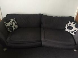 4 seater, swivel chair and puffy