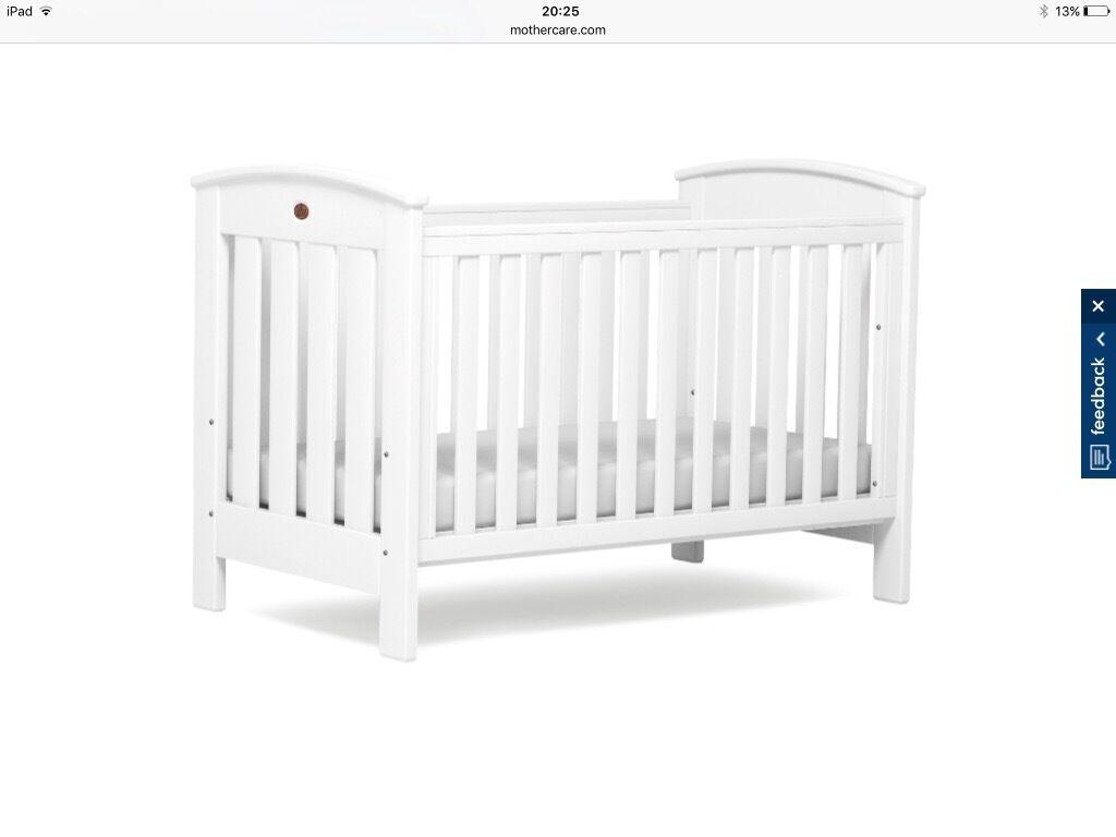 White Nursery Furniture Set Boori Cotbed Changer Unit Wardrobe
