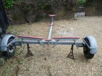 DINGHY TRAILER, galvanised. As new. Complete with spare wheel. Suit 10' to 14' dinghy?