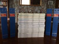 This England Magazines from 1974 - 2012 plus 4 presentation folders