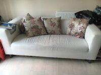 Ikea white leather sofa rrp £200