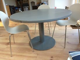 Circular table. For dining or office use