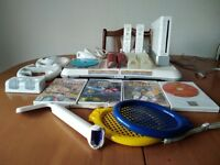 Wii consul plus games and extras