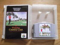 Waialae Country Club Golf - Nintendo 64 game with instructions & storage display box
