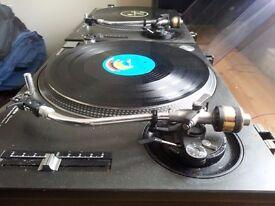 Technics 1210s MK2 professional DJ Decks