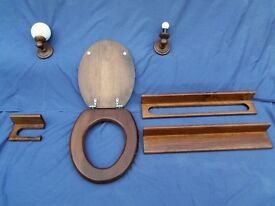 Bathroom wooden fixtures and fittings