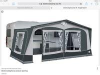 Dorema Daytona size16 full awning with steel poles