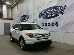 2015 Ford Explorer Limited W/ Leather, Low KMS, Remote Start