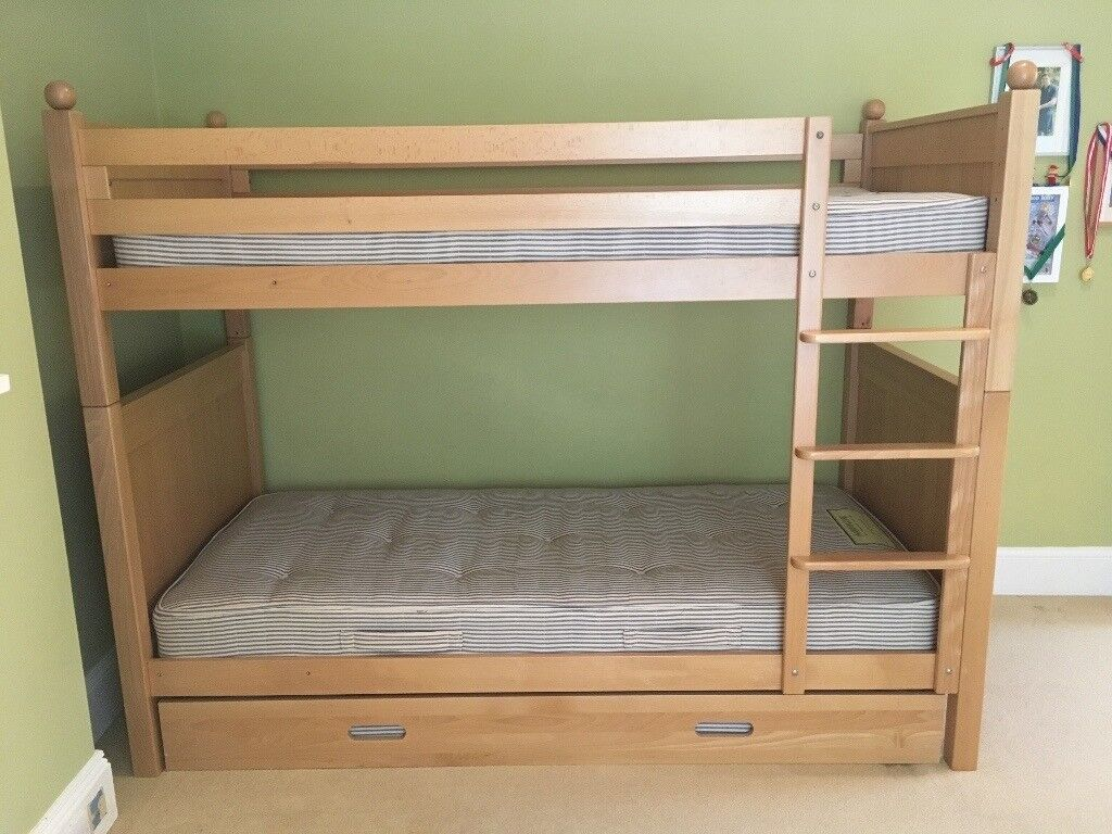 Bunk Beds Aspace New England Solid Beech Including 3rd Truckle