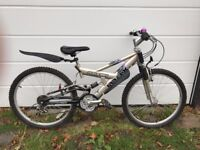 Child's mountain bike front and rear suspension VGC £65 ono
