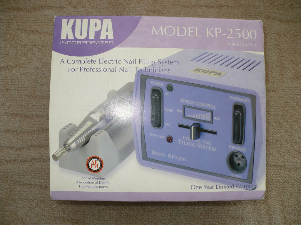 Kupa Kp 2500 A Complete Electric Nail Filing System For Professional Technicians Like New