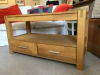 TV unit with 2 drawers.