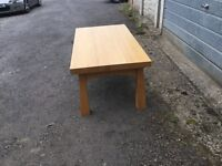 Solid beech contemporary coffee table