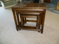 nest of wooden coffee tables for sale
