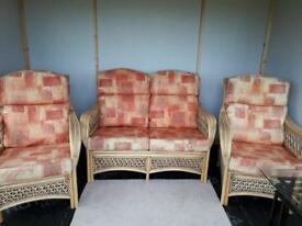 Wicker conservatory furniture three piece