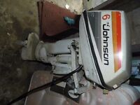 Johnson Outboard motor 6 hp Two stroke.