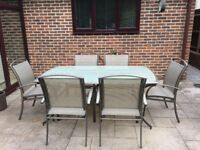 Garden Table Plus Six Chairs