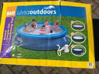 10ft B&Q inflatable pool INCLUDES filter and electric pump