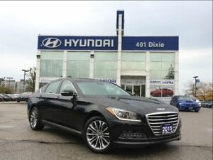 2015 Hyundai Genesis 3.8|LUX|NAV|PANO SUNROOF|LEATHER|BACK-UP CA