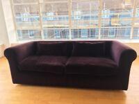 Habitat Louis sofa in purple £1800 from new