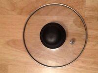 Glass Lid replacement top small saucepans pots heatproof handle, great condition - 153mm