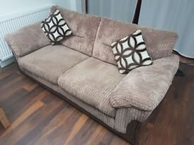 2 x large seater sofas
