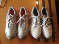 Ladies Adidas Waterproof Golf shoes/trainers size 6 x 2 pairs