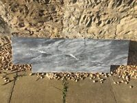 Marble hearth and fireplace surround for sale