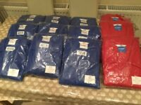 12 PAIRS OF QUALITY WORK OVERALLS BRAND NEW VARIOUS SIZES