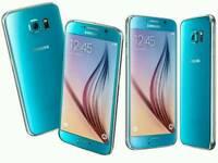 Samsung S6 blue topaz perfect condition
