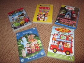 5 CHILDRENS PRE SCHOOL DVDS