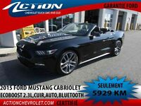 2015 Ford Mustang Convertible EcoBoost Premium,cuir,auto