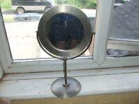 Habitat brushed steel silver vanity retro mirror