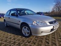 HONDA CIVIC 1.4 PETROL MANUAL, LOW MILEAGE, FULL SERVICE HISTORY.