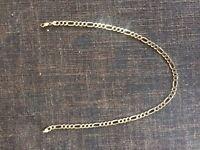 9ct gold figaro chain