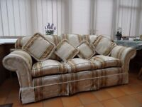 Three seater sofa, excellent condition, with matching cushions.