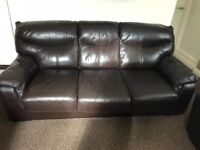 DFS REAL LEATHER LEATHER SOFA BED.