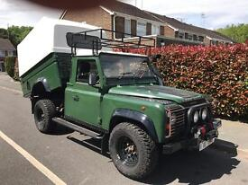 Land Rover defender 110 tipper 1993 with high cube truck man top new mot 200k miles