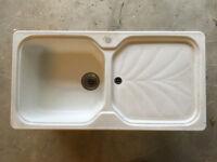 Franke Gran Nat White sink unit