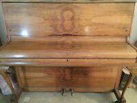 Upright Overstrung Antique Walnut Piano